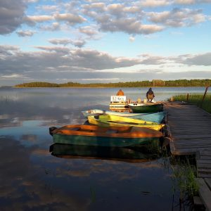 Аренда для рыбалки домика с террасой